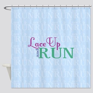 Lace Up and Run Shower Curtain