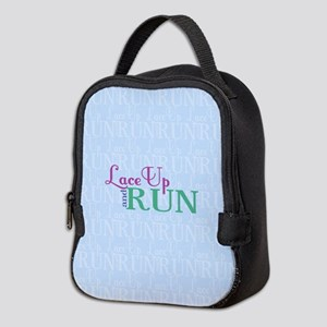 Lace Up and Run Neoprene Lunch Bag