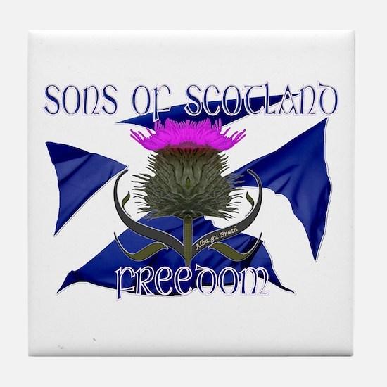 Sons of Scotland Freedom flag design Tile Coaster