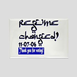 Regime Changed--regime change Rectangle Magnet