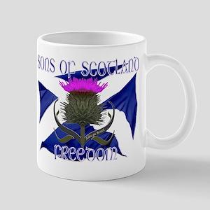 Sons of Scotland Freedom flag design Small Mug