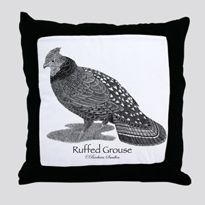 Ruffed Grouse Throw Pillow
