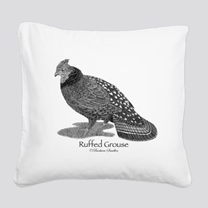 Ruffed Grouse Square Canvas Pillow