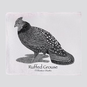 Ruffed Grouse Throw Blanket
