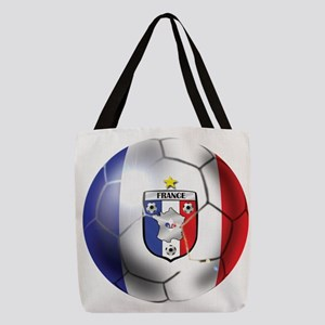 French Soccer Ball Polyester Tote Bag
