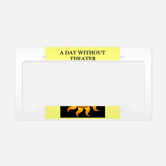 THEATER License Plate Holder