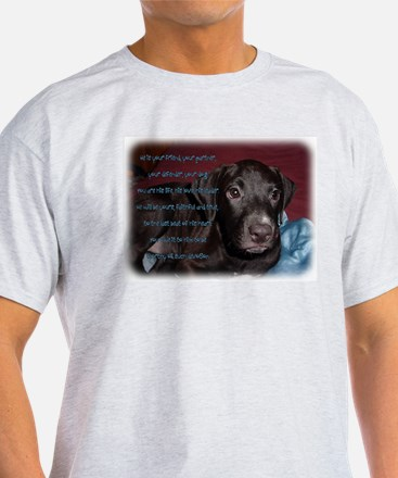 He is Your Dog Ash Grey T-Shirt