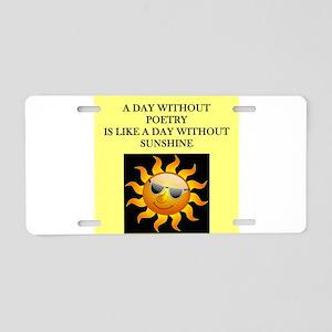 poetry Aluminum License Plate