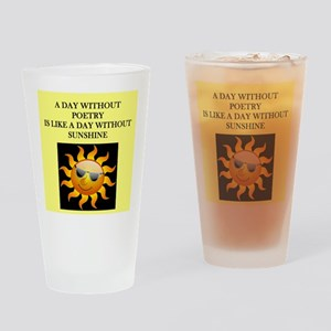 poetry Drinking Glass