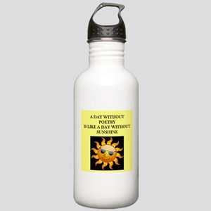 poetry Water Bottle