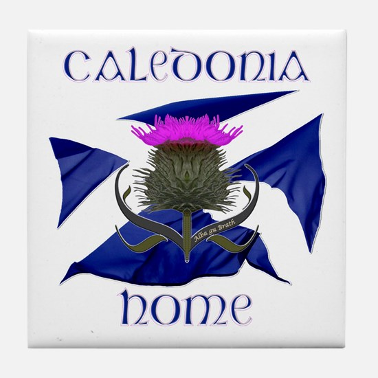 Scotland Caledonia Home Flag Tile Coaster