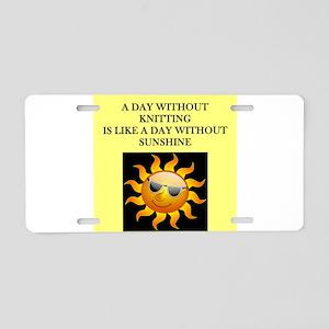 knitting Aluminum License Plate