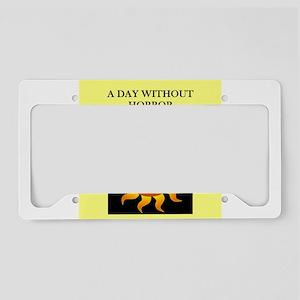 horror License Plate Holder