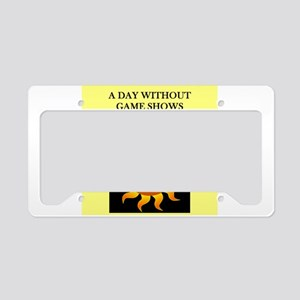 game shows License Plate Holder
