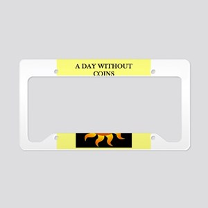coin collecting License Plate Holder