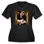Jimmi Accardi Women's Plus Size V-Neck Dark T-Shir