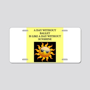 ballet Aluminum License Plate