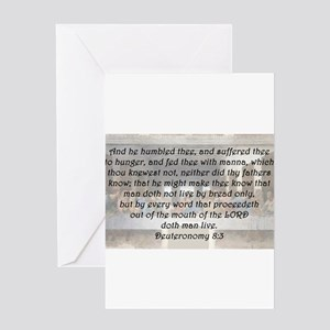 Deuteronomy 8:3 Greeting Card