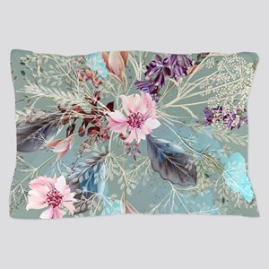 Pink Rose Queen's Anne Lace Floral Pillow Case
