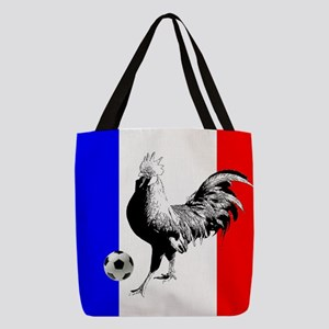 French Football Flag Polyester Tote Bag