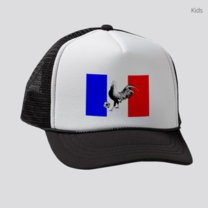 French Football Flag Kids Trucker hat