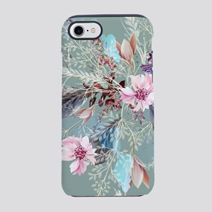 Pink Rose Queen's Anne Lace Floral iPhone 7 Tough
