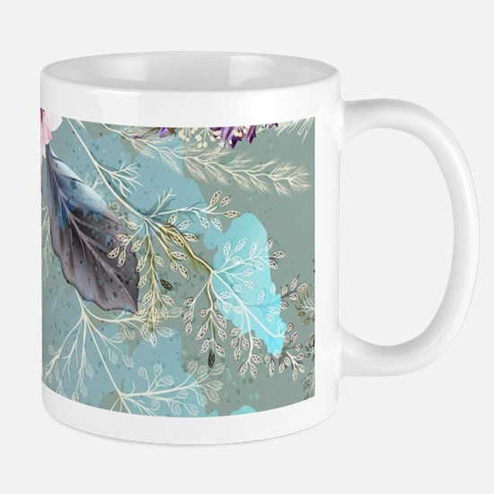Pink Rose Queen's Anne Lace Floral Mugs