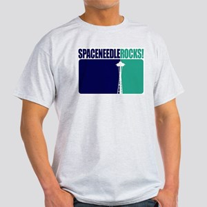 Space Needle Rocks! Ash Grey T-Shirt