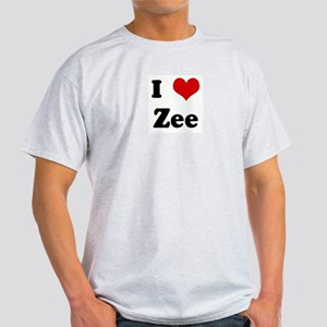 I Love Zee Ash Grey T-Shirt