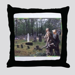 Across a Lonely Field Throw Pillow