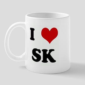 I Love SK Mug