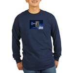 12 Golden Keys Long Sleeve Dark T-Shirt for Guys