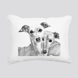 BFF's Rectangular Canvas Pillow
