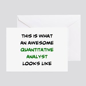 awesome quantitative analyst Greeting Card