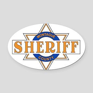 Sheriff Buford T Justice Door Emblem Oval Car Magn