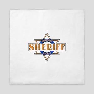 Sheriff Buford T Justice Door Emblem Queen Duvet