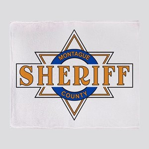 Sheriff Buford T Justice Door Emblem Throw Blanket
