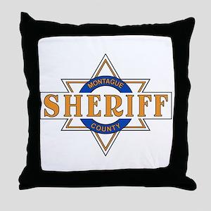 Sheriff Buford T Justice Door Emblem Throw Pillow
