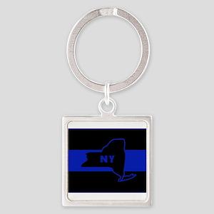 ThinBlueLineNewYorkState Keychains