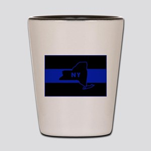 ThinBlueLineNewYorkState Shot Glass