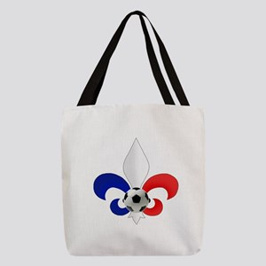 French Fleur de Lis Polyester Tote Bag