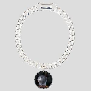Timneh Africn Grey Charm Bracelet, One Charm
