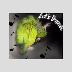 nanday conure dancing Throw Blanket
