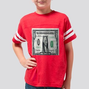 1 Dollar Bill Youth Football Shirt