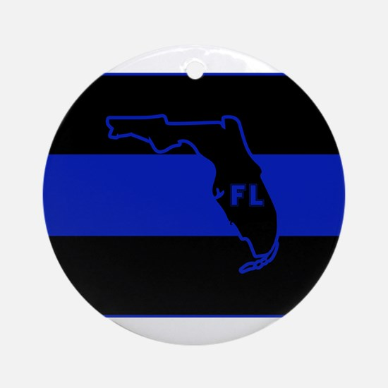Thin Blue Line Florida Ornament (Round)