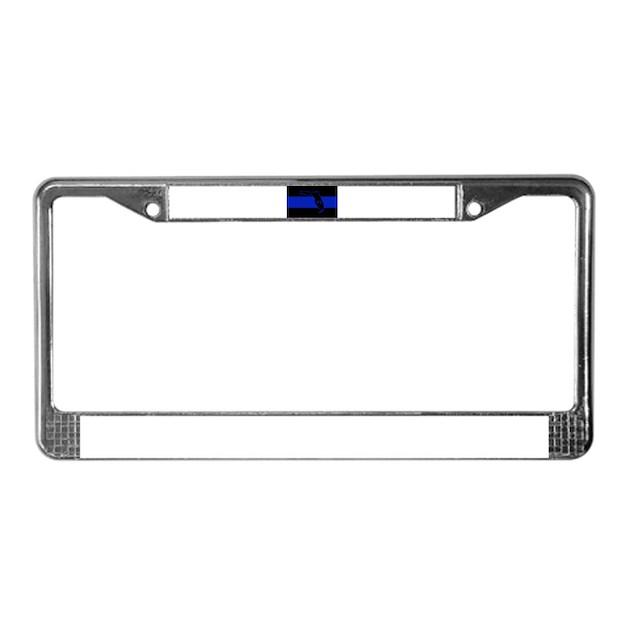 Thin Blue Line Florida License Plate Frame by ThinBlueLineFlorida