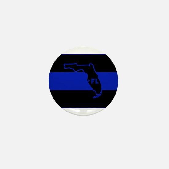 Thin Blue Line Florida Mini Button