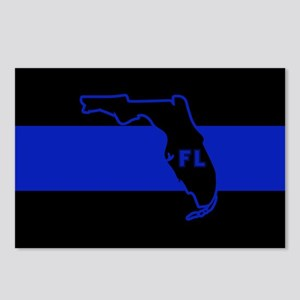 Thin Blue Line Florida Postcards (Package of 8)