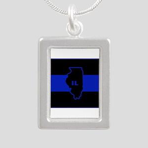 Thin Blue Line Illinois Necklaces