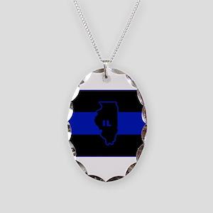 Thin Blue Line Illinois Necklace